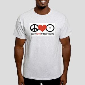 Peace, Love & Breastfeeding Light T-Shirt