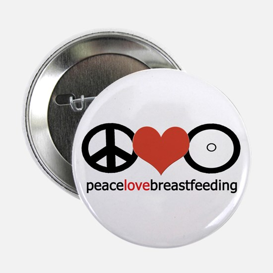 "Peace, Love & Breastfeeding 2.25"" Button"