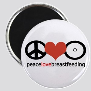 Peace, Love & Breastfeeding Magnet