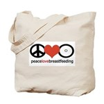 Peace, Love & Breastfeeding Tote Bag
