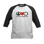 Peace, Love & Breastfeeding Kids Baseball Jersey
