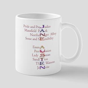Jane Austen books2 Mug