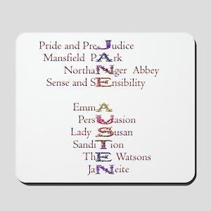 Jane Austen books2 Mousepad