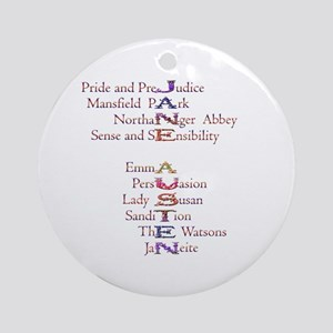 Jane Austen books2 Ornament (Round)