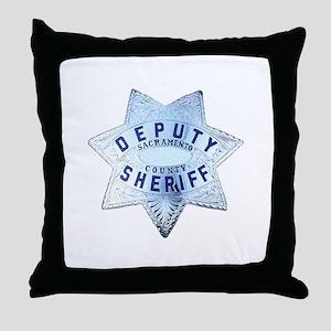 Sacramento Deputy Sheriff Throw Pillow