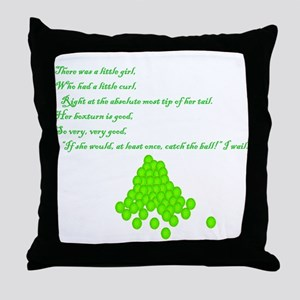 Flyball Get the Ball Throw Pillow