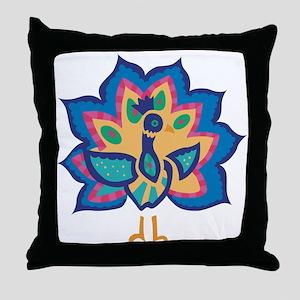 Pretty Peacock Three Throw Pillow