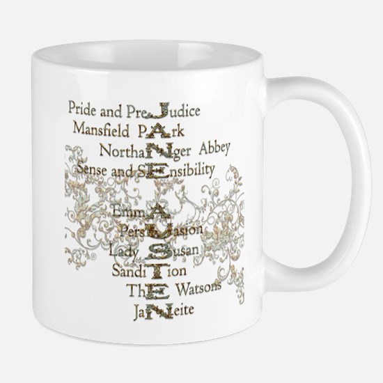 Jane Austen Books 5 Mug