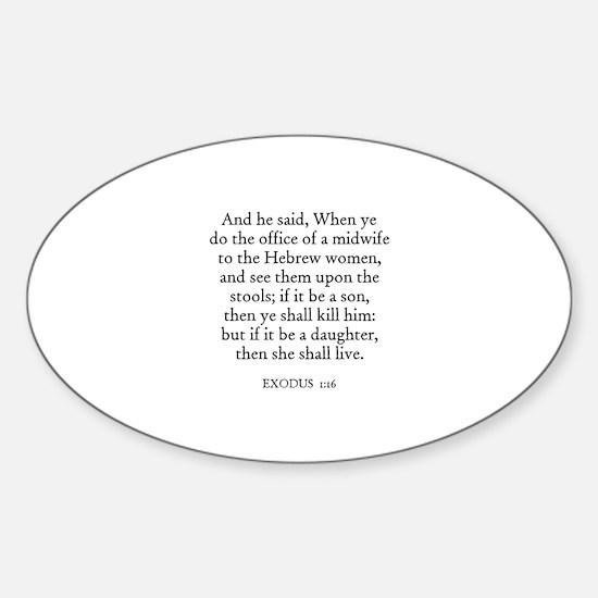 EXODUS 1:16 Oval Decal