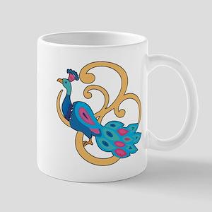 Pretty Peacock Four Mug