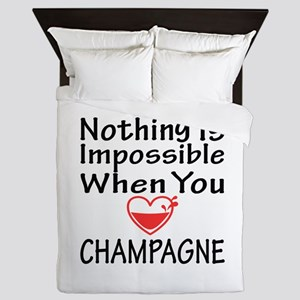 Nothing Impossible When You Love Champ Queen Duvet