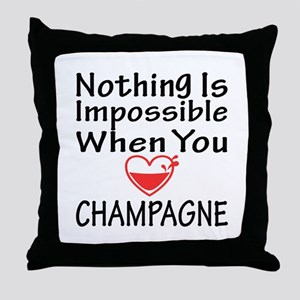 Nothing Impossible When You Love Cham Throw Pillow