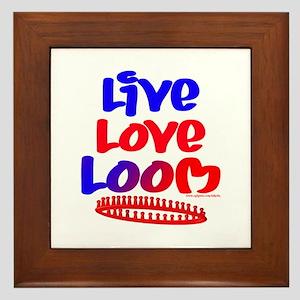 Live Love Loom Framed Tile