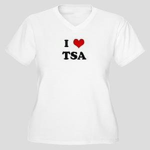 I Love TSA Women's Plus Size V-Neck T-Shirt