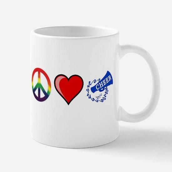 Cute Peace love cheer Mug