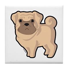 Pug Tile Coaster