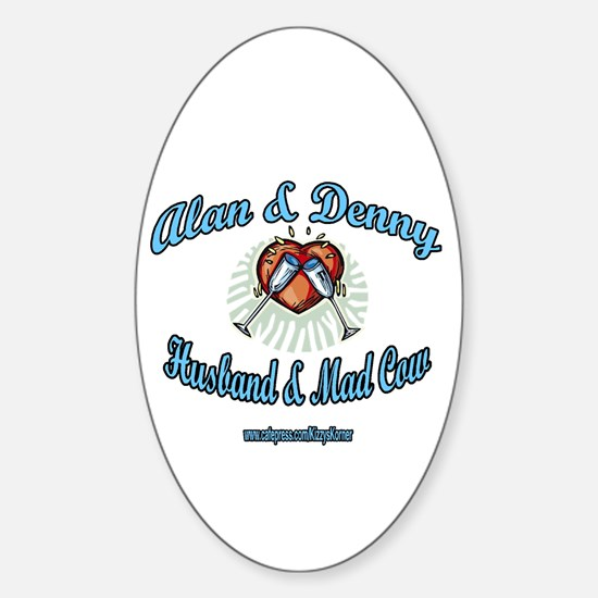 HUSBAND MAD COW 2 Oval Bumper Stickers
