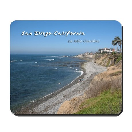 La Jolla Coastline, San Diego Mousepad