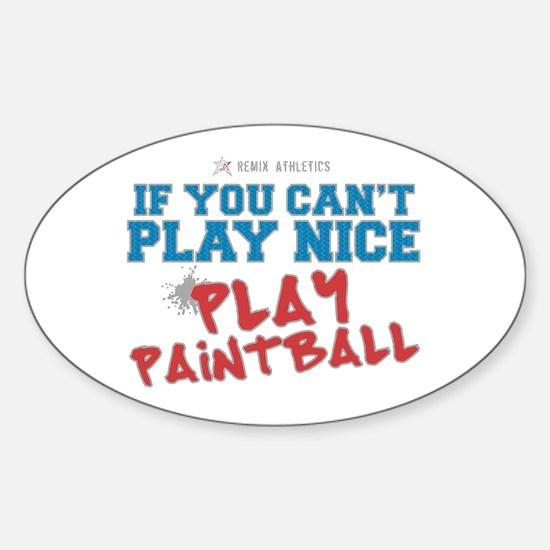 Paintball Slogan Oval Decal