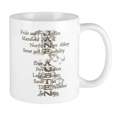 Jane Austen Books 6 Mug