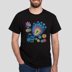 Pretty Peacock Six Dark T-Shirt