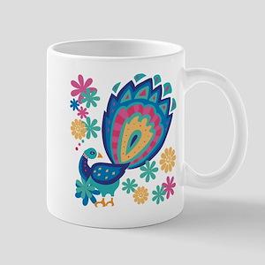 Pretty Peacock Six Mug