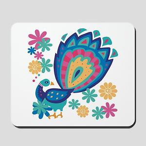 Pretty Peacock Six Mousepad