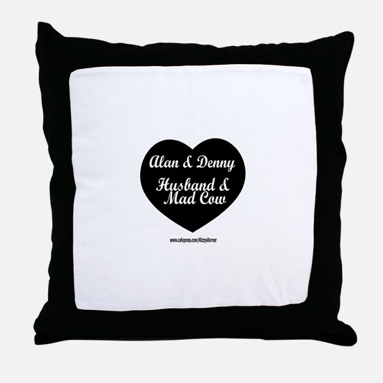 HUSBAND MAD COW 3 Throw Pillow