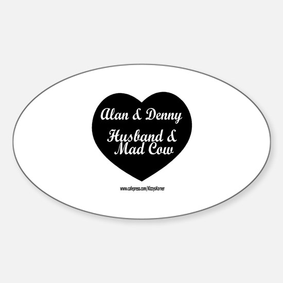 HUSBAND MAD COW 3 Oval Bumper Stickers