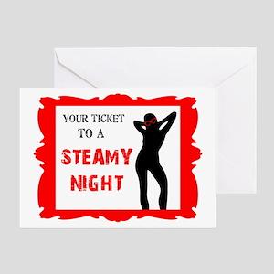 Steamy Night Valentine's Day Card