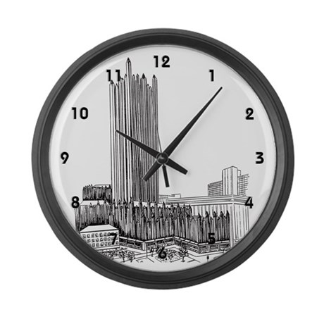 Pittsburgh Plate Glass Building Large Wall Clock