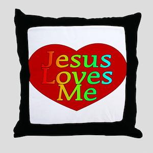 Jesus Loves Me Throw Pillow