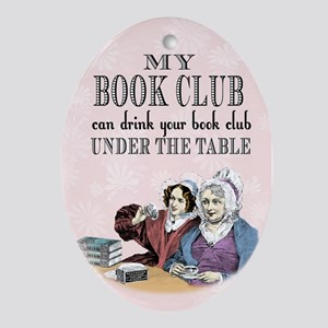 Book Club Oval Ornament