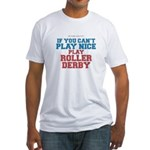 Roller Derby Slogan Fitted T-Shirt