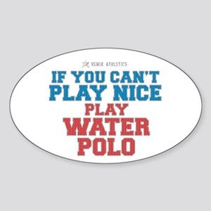 Water Polo Slogan Oval Sticker