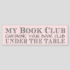 Book Club Bumper Sticker