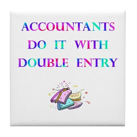 Accountants Gift Tile Coaster