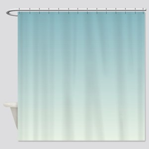 Teal Fade to Mint Shower Curtain