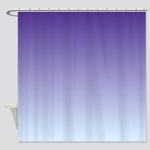 Purple Fade to Blue Shower Curtain