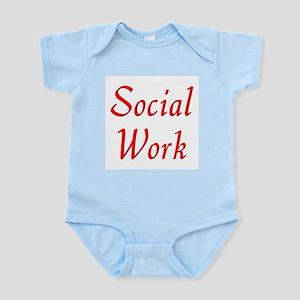 Social Work (red) Infant Bodysuit