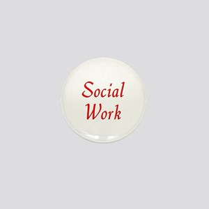 Social Work (red) Mini Button