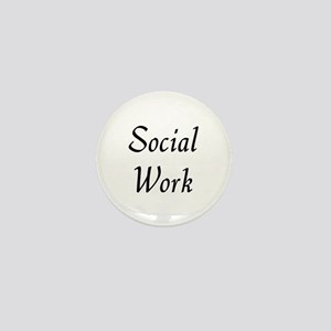 Social Work (black) Mini Button