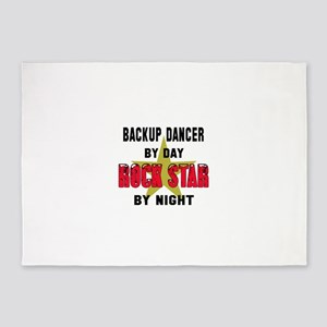 Backup dancer boy By Day, Rock Star 5'x7'Area Rug