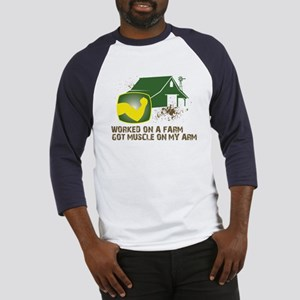 Worked on a farm, got muscle Baseball Jersey