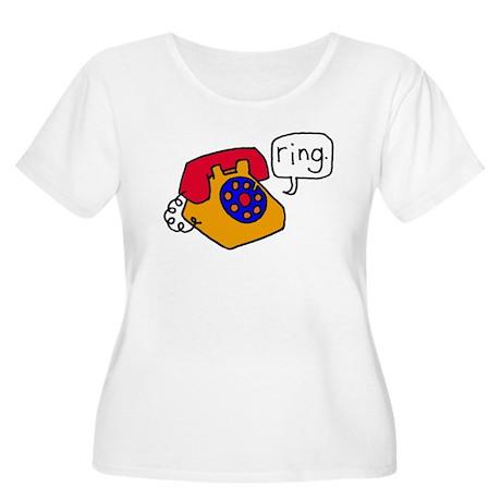 Ring Women's Plus Size Scoop Neck T-Shirt