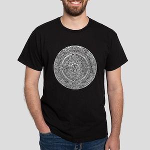 Aztec Sun Calendar Dark T-Shirt