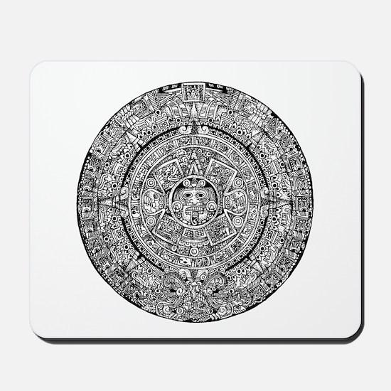 Aztec Sun Calendar Mousepad