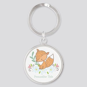 Cute Baby Fox Personalized Keychains