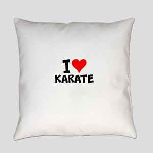 I Love Karate Everyday Pillow