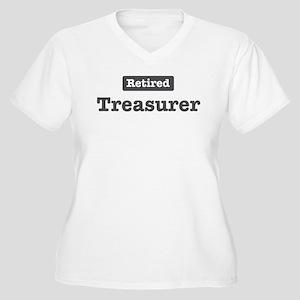 Retired Treasurer Women's Plus Size V-Neck T-Shirt